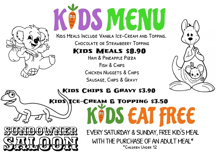 Our Yummy Kids Menu